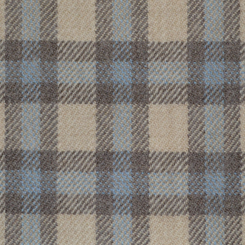 Beige, Brown & Blue Multi Check Holland & Sherry Jacketing