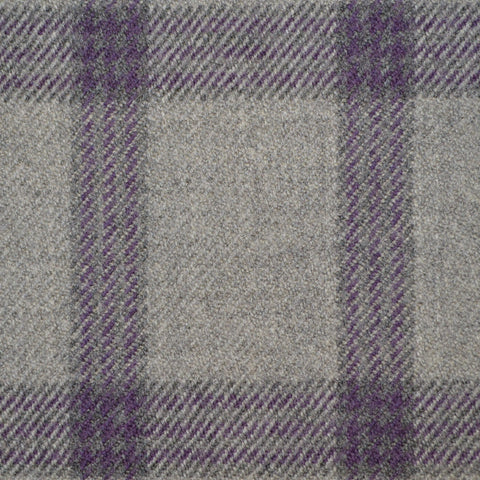 Grey & Purple Triple Check Holland & Sherry Jacketing