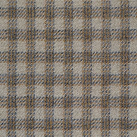 Beige, Camel & Blue Triple Check Holland & Sherry Jacketing