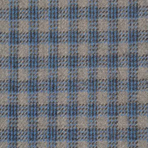 Grey & Medium Blue Triple Check Holland & Sherry Jacketing