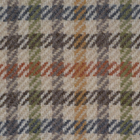 Beige, Brown & Green Check Holland & Sherry Jacketing