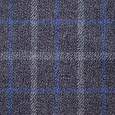 Blue/Grey, Blue & Silver Check Holland & Sherry Jacketing