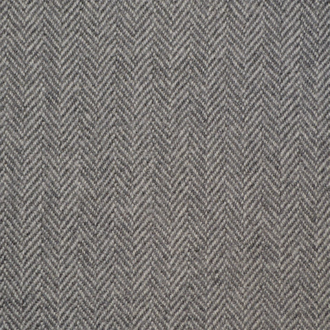 Silver Grey Herringbone Holland & Sherry Jacketing
