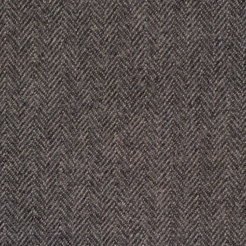 Dark Grey Herringbone Holland & Sherry Jacketing