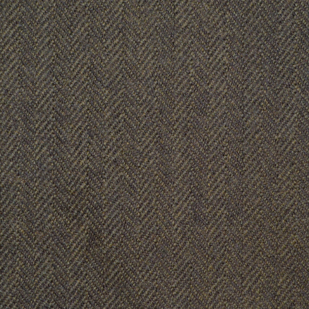 Green Herringbone Holland & Sherry Jacketing
