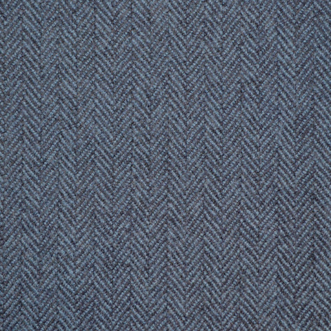 Medium Blue Herringbone Holland & Sherry Jacketing