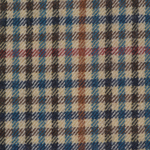 Beige, Brown & Small Green Check Holland & Sherry Jacketing