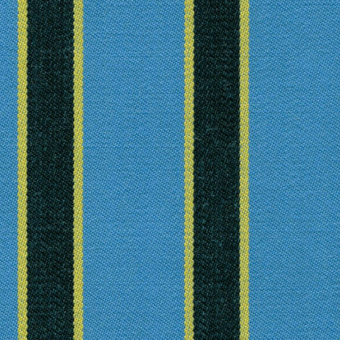 Aqua Blue, Yellow and Black Blazer Stripe Jacketing by Holland & Sherry