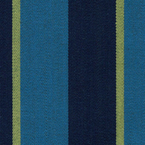 Aqua Blue, Navy Blue and Yellow Blazer Stripe Jacketing by Holland & Sherry