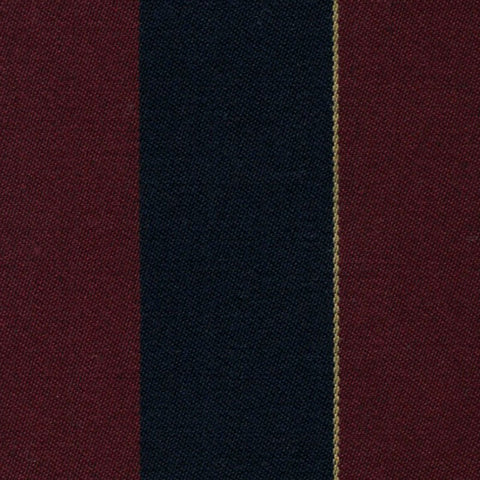 Burgundy, Black and Gold Blazer Stripe Jacketing by Holland & Sherry