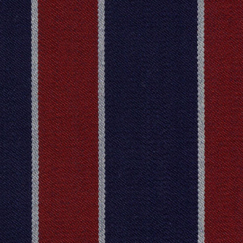 Red, Medium Blue and White Blazer Stripe Jacketing by Holland & Sherry