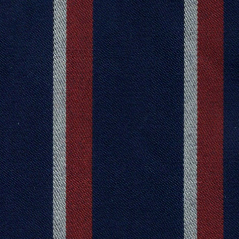 Navy Blue, Red and White Blazer Stripe Jacketing by Holland & Sherry