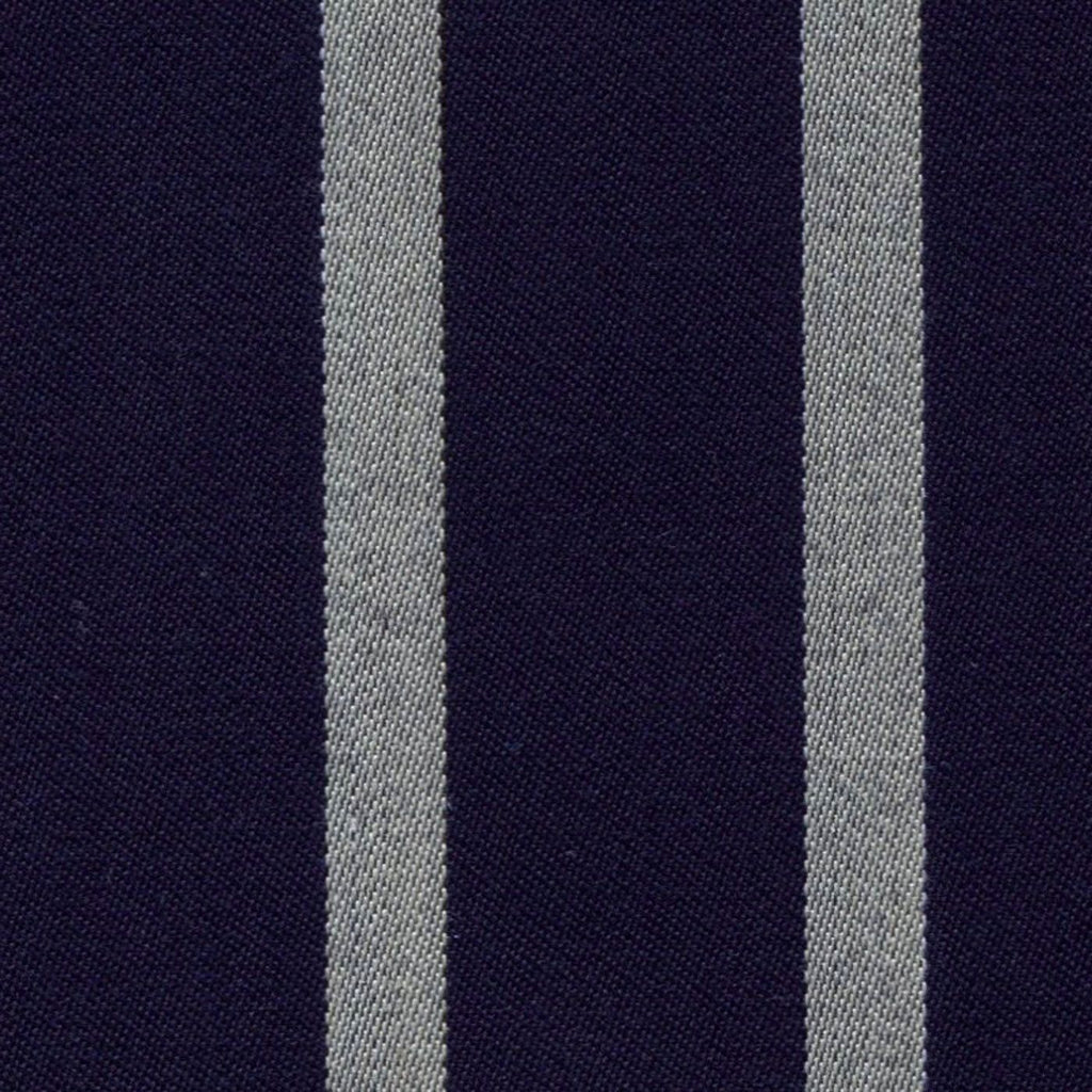 Navy Blue and White Blazer Stripe Jacketing by Holland & Sherry