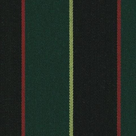 Forest Green, Black, Yellow and Red Blazer Stripe Jacketing by Holland & Sherry