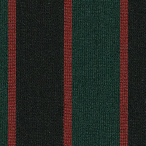 Forest Green, Black and Red Blazer Stripe Jacketing by Holland & Sherry