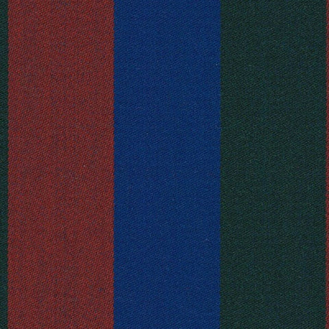 Red, Royal Blue and Green Blazer Stripe Jacketing by Holland & Sherry