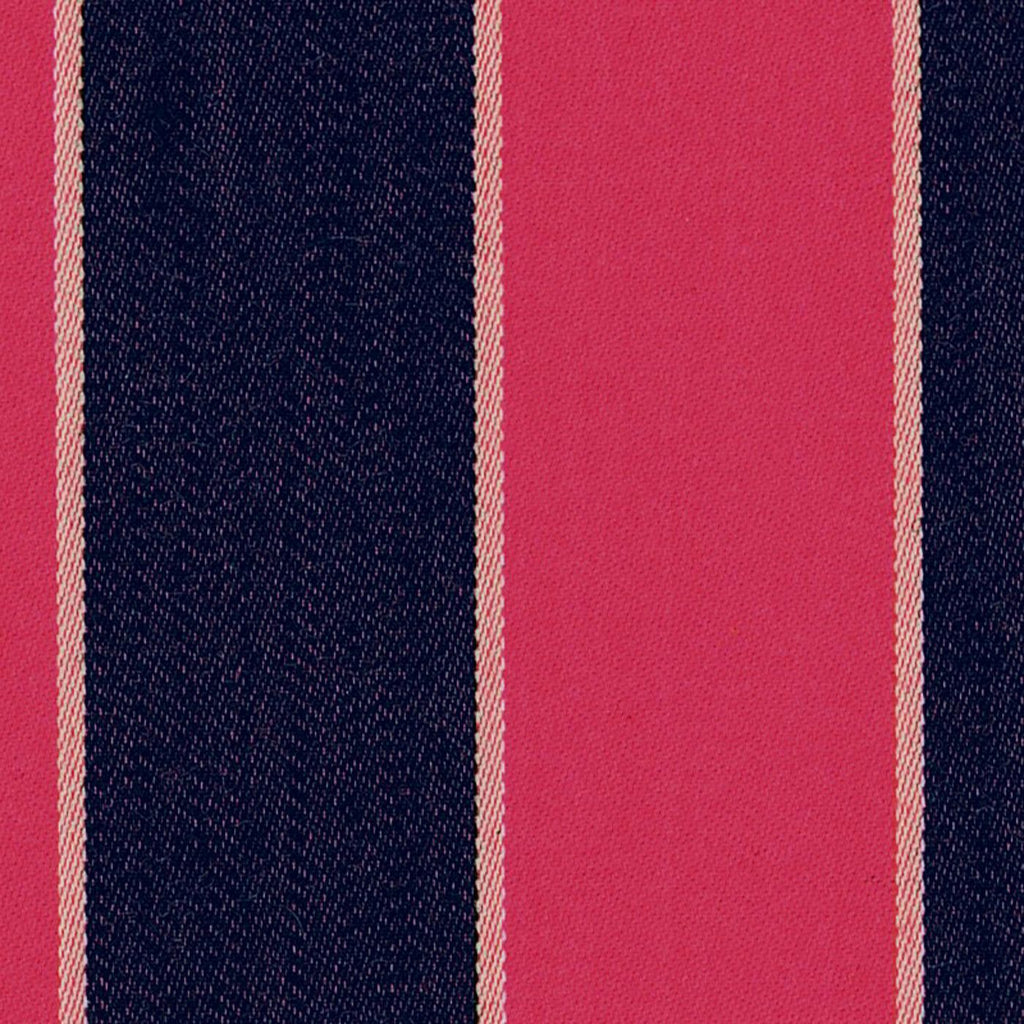 Fuchsia, Navy Blue and White Blazer Stripe Jacketing by Holland & Sherry
