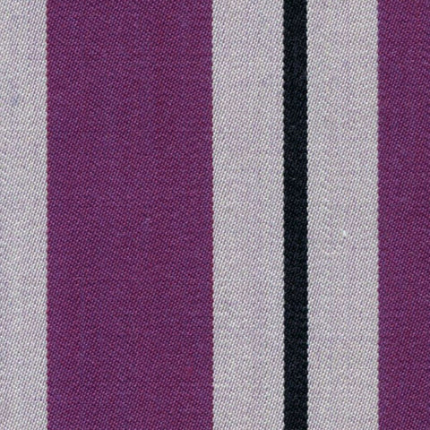 Purple, White and Black Blazer Stripe Jacketing by Holland & Sherry