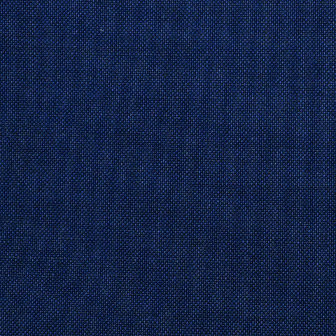 Dark Blue Solid Super 100's Wool & Kid Mohair Suiting By Holland & Sherry