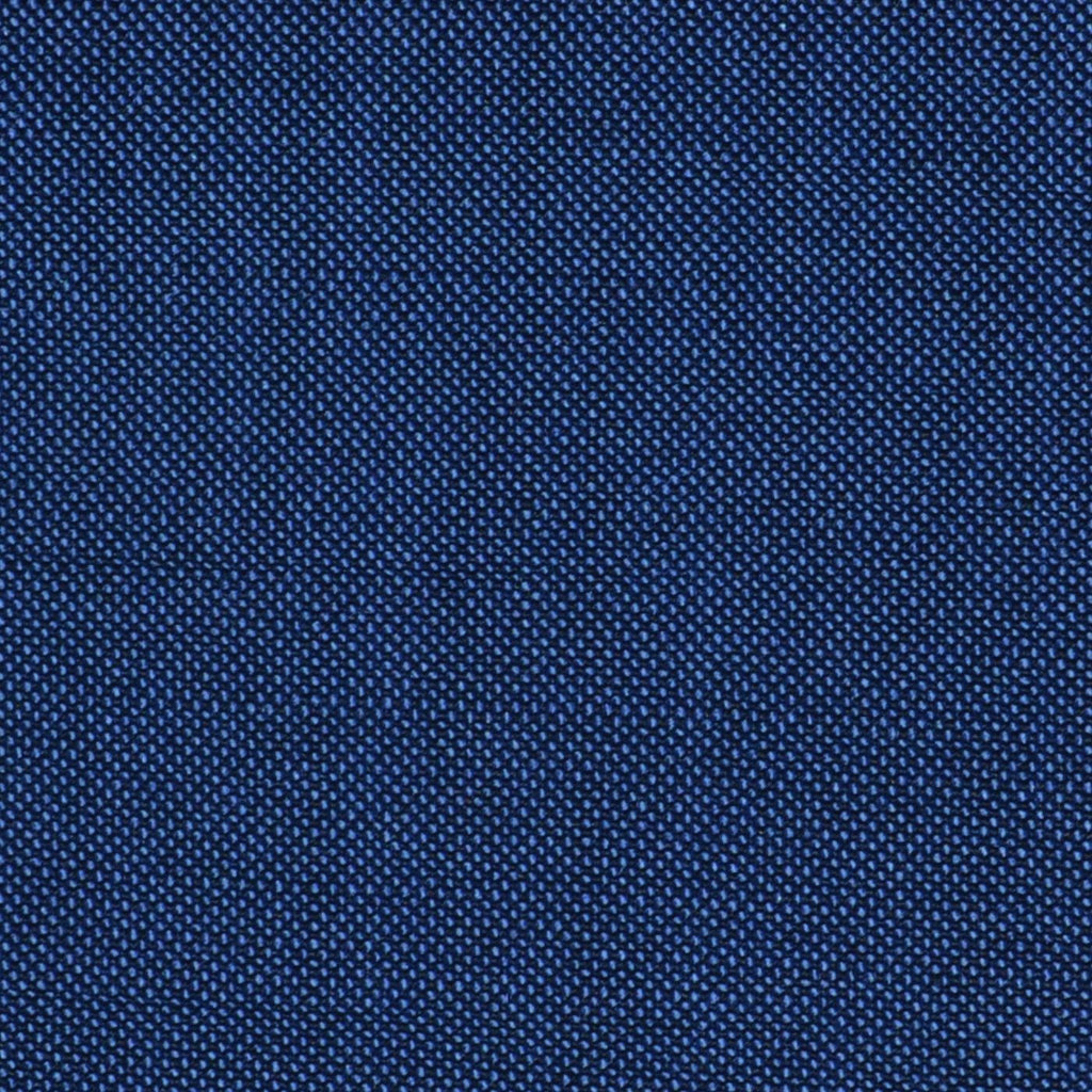 Blue Solid Super 100's Wool & Kid Mohair Suiting By Holland & Sherry
