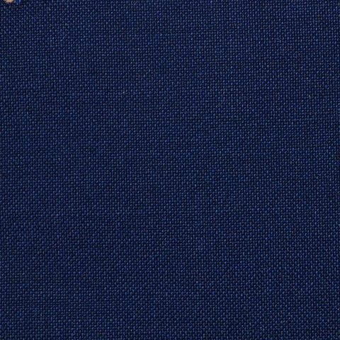 Navy Blue Solid Super 100's Wool & Kid Mohair Suiting By Holland & Sherry