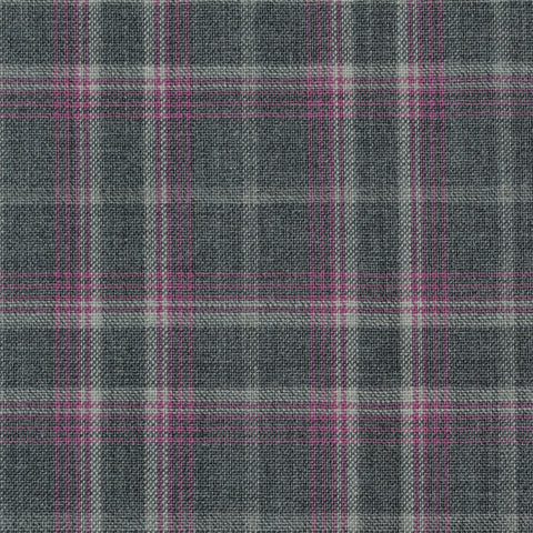 Grey, White & Pink Glen Check Holland & Sherry Jacketing