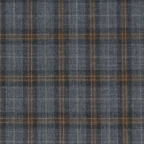 Grey & Brown Check Holland & Sherry Jacketing