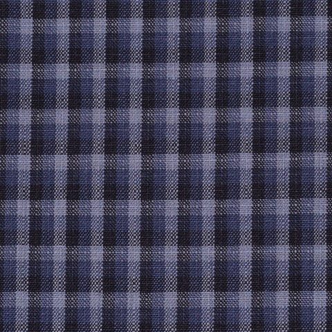 Blue, Grey & Black Check Holland & Sherry Jacketing