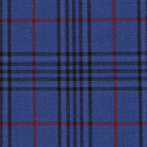 Medium Blue & Red Prince of Wales Check Holland & Sherry Jacketing