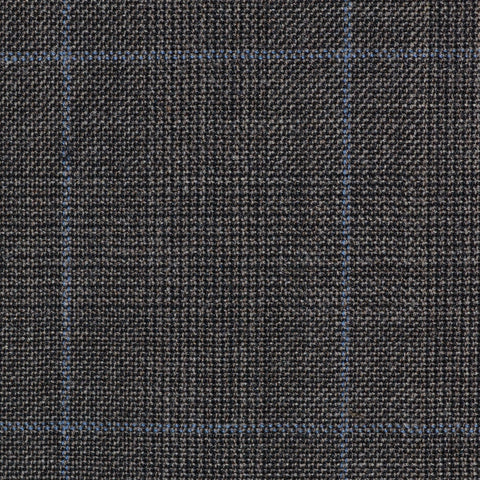 Brown Glen Check Super 100's All Wool Suiting By Holland & Sherry