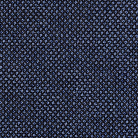 Medium Blue Birdseye Super 100's All Wool Suiting By Holland & Sherry