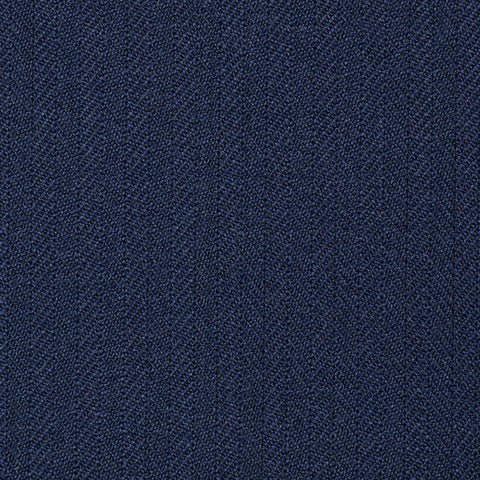 Navy Blue Narrow Herringbone Super 100's All Wool Suiting By Holland & Sherry