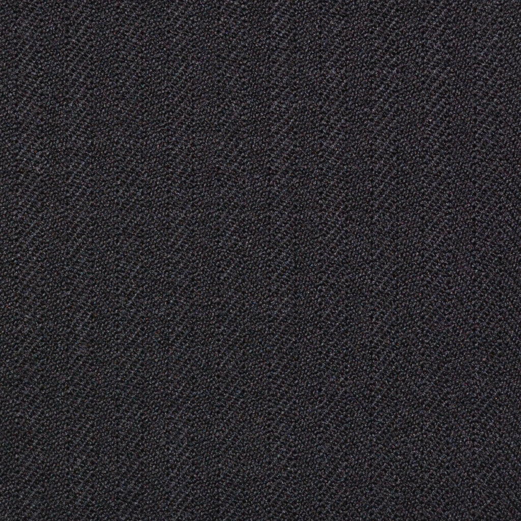 Black Narrow Herringbone Super 100's All Wool Suiting By Holland & Sherry