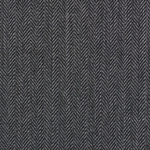 Medium Grey Narrow Herringbone Super 100's All Wool Suiting By Holland & Sherry