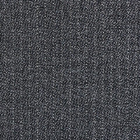 Medium Grey Narrow Stripe Super 100's All Wool Suiting By Holland & Sherry