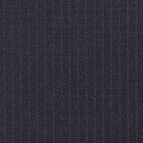 Navy Blue Narrow Stripe Super 100's All Wool Suiting By Holland & Sherry