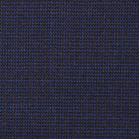 Bright Navy Blue and Dark Navy Blue Micro Check Super 100's All Wool Suiting By Holland & Sherry