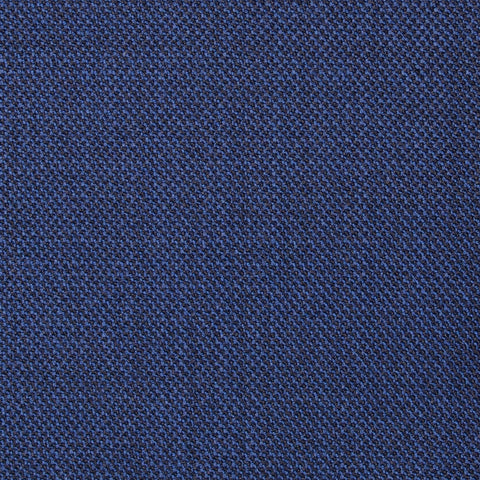 Bright Navy Blue Pick & Pick Super 100's All Wool Suiting By Holland & Sherry