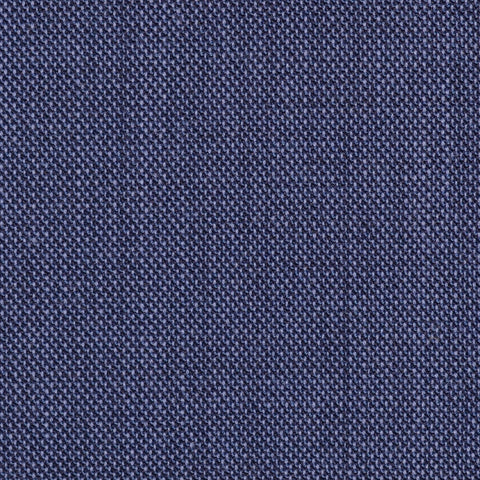 Medium Blue Pick & Pick Super 100's All Wool Suiting By Holland & Sherry