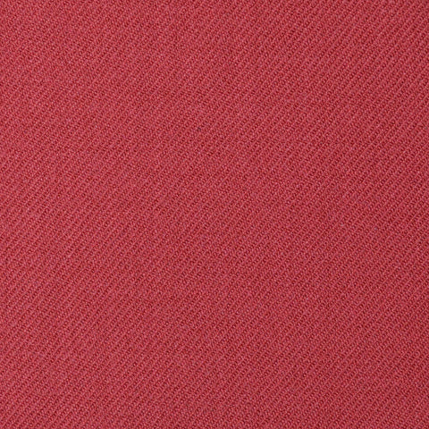 Red Plain Twill Super 100's All Wool Suiting By Holland & Sherry