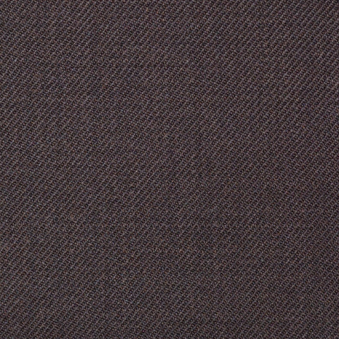 Dark Brown Plain Twill Super 100's All Wool Suiting By Holland & Sherry