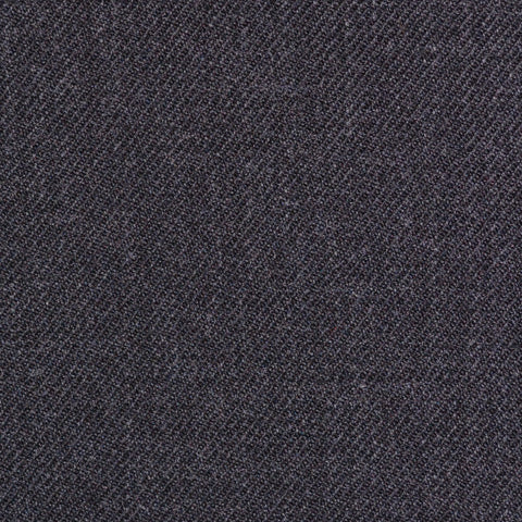 Charcoal Grey Plain Twill Super 100's All Wool Suiting By Holland & Sherry