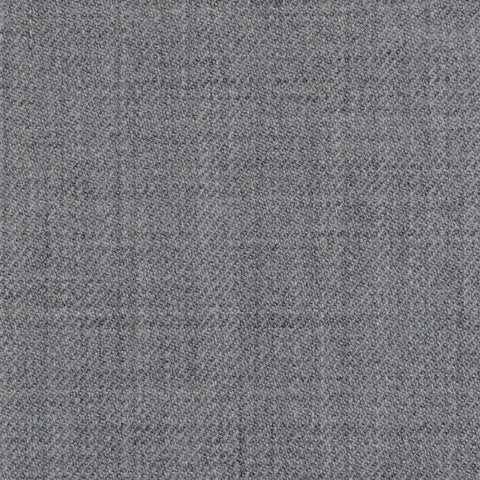 Light Grey Plain Twill Super 100's All Wool Suiting By Holland & Sherry