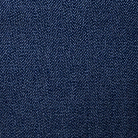 Navy Blue Herringbone Super 100's All Wool Suiting By Holland & Sherry