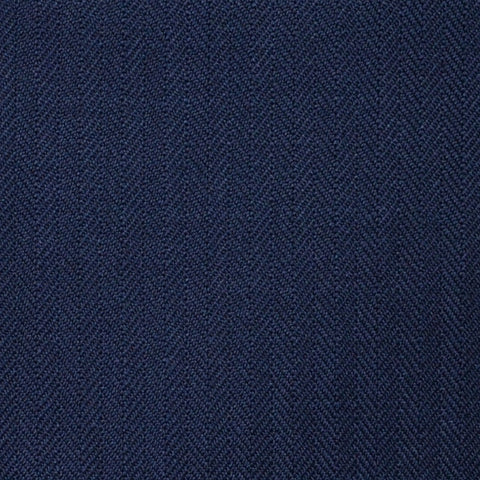 Dark Navy Blue Narrow Herringbone Super 100's All Wool Suiting By Holland & Sherry