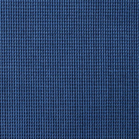 Medium Blue and Navy Blue Micro Check Super 100's All Wool Suiting By Holland & Sherry
