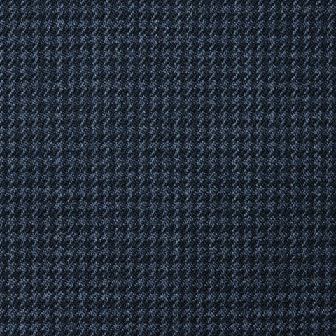Dark Grey and Charcoal Small Dogtooth Check Super 100's All Wool Suiting By Holland & Sherry
