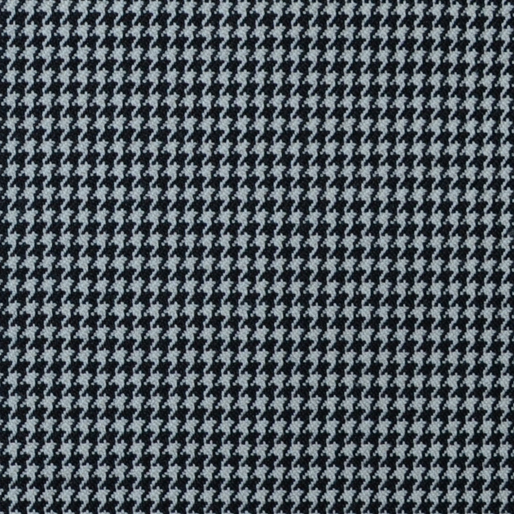 Black and White Small Dogtooth Check Super 100's All Wool Suiting By Holland & Sherry