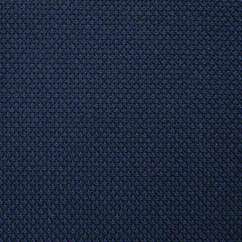 Dark Navy Blue Birdseye Super 100's All Wool Suiting By Holland & Sherry