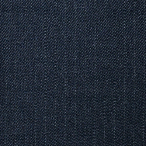 "Charcoal Muted 1/4"" Narrow Stripe Super 100's All Wool Suiting By Holland & Sherry"